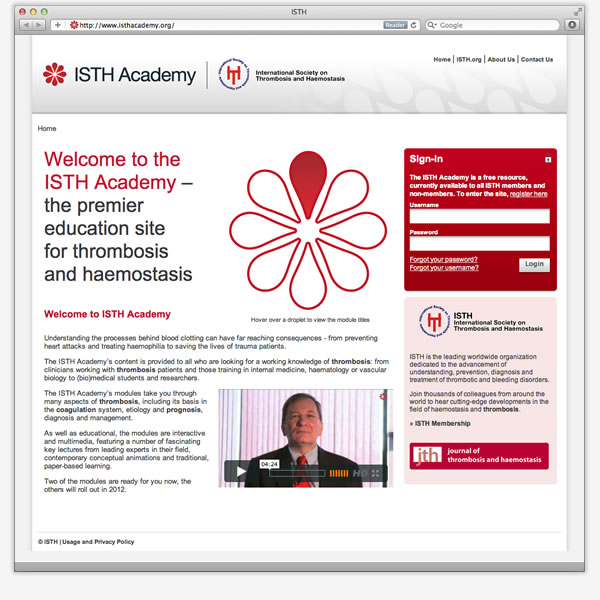 ISTH Academy - E-Learning Website