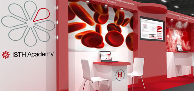 ISTH Academy exhibition stand